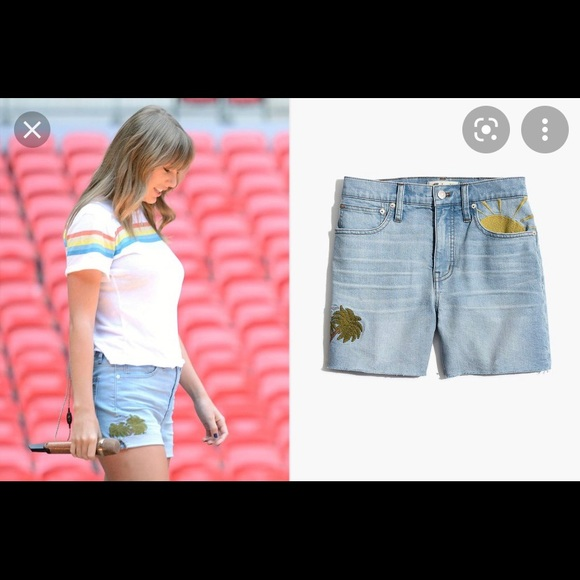 28 Embroidered Beach High Rise Denim Shorts NWT Madewell Size 24